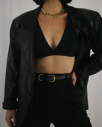 Vintage 1980's Noir Leather Jacket