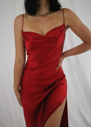 Vintage Scarlet Victoria's Secret Silk Slip Dress
