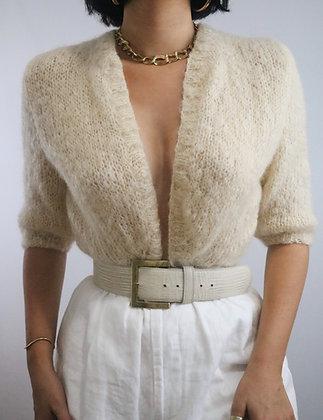 Vintage Cream Mohair Cardigan