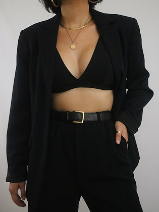 Vintage Noir Wool Blazer
