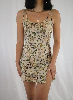 Vintage Golden Floral Silk Victoria's Secret Slip Dress