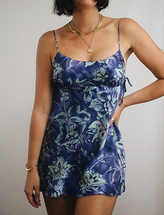 Vintage Aqua Victoria's Secret Silk Slip Dress