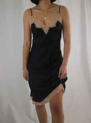 Victoria's Secret Noir Silk Slip Dress