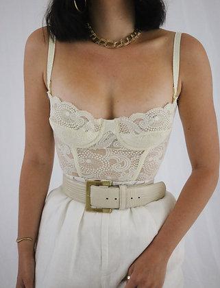 Vintage Ivory 90's Victoria's Secret Bustier