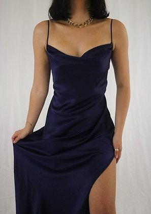 Vintage Midnight Victoria's Secret Silk Slip Dress
