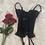 Thumbnail: Vintage Noir 90's Lace Victoria's Secret Lace Bustier (34C)