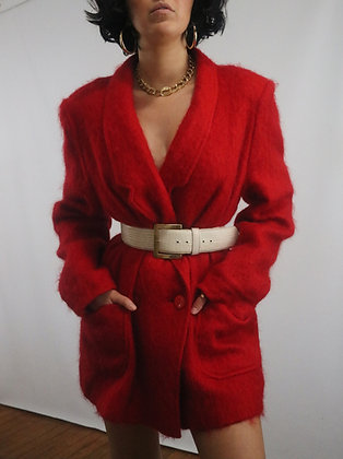 Vintage Cherry Mohair Blazer