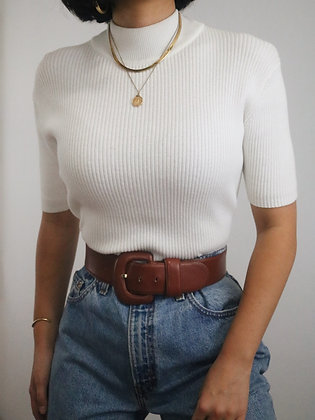Vintage Ralph Lauren Milk Cotton Knit Top
