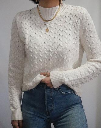 Vintage Snow Cotton Herringbone Sweater