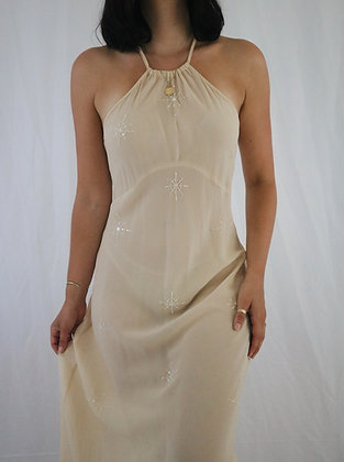 Vintage Ivory Victoria's Secret Silk Slip Dress (M)