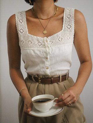Stunning Milk Ralph Lauren Linen Blouse