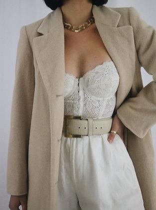Vintage Oat Wool + Cashmere Coat
