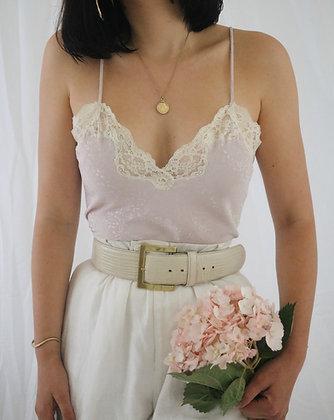 Vintage Blush Christian Dior Lace Camisole