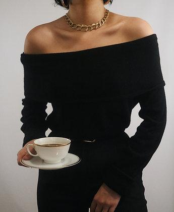 Vintage Noir Silk + Cashmere Sweater