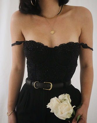 Vintage Noir Victoria's Secret Bustier - 34C