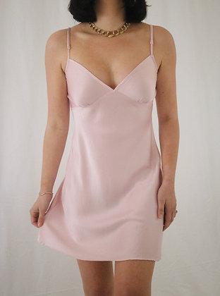 Vintage Rose Victoria's Secret Silk Slip Dress