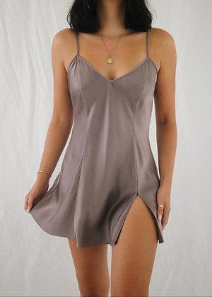 Vintage Lavender Silk Slip Dress