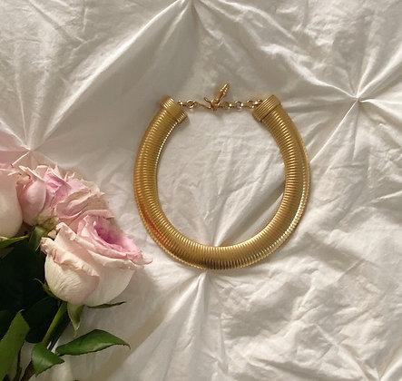Vintage 1980's Golden Snake Necklace