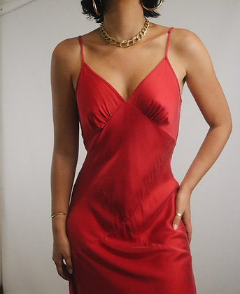 Vintage Cherry Victoria's Secret Silk Slip Dress