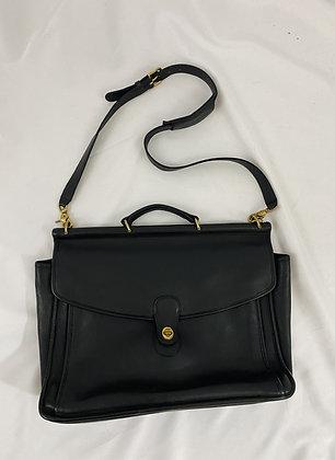 Vintage Noir Coach Leather Briefcase