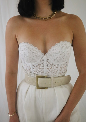 Vintage Milk Lace Frederick's of Hollywood Bustier