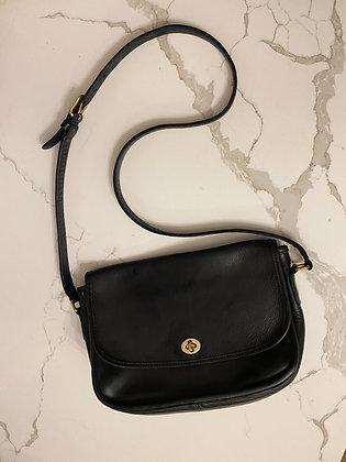 Vintage Noir Coach City Bag