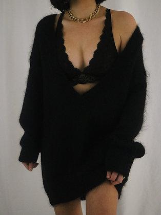 Vintage Noir 1980's Mohair Sweater
