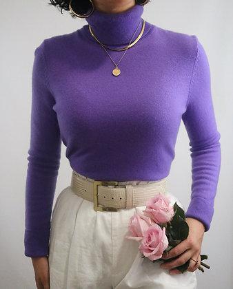 Vintage Violet Cashmere Turtleneck Sweater