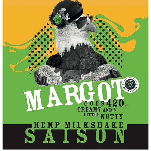 Margot Goes 420 Hemp Milkshake Saison 4.0%abv 330ml bottle