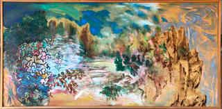 Oriental modernist landscape