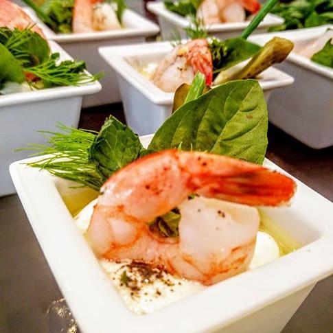 Burrata & shrimp perfect combination #ea