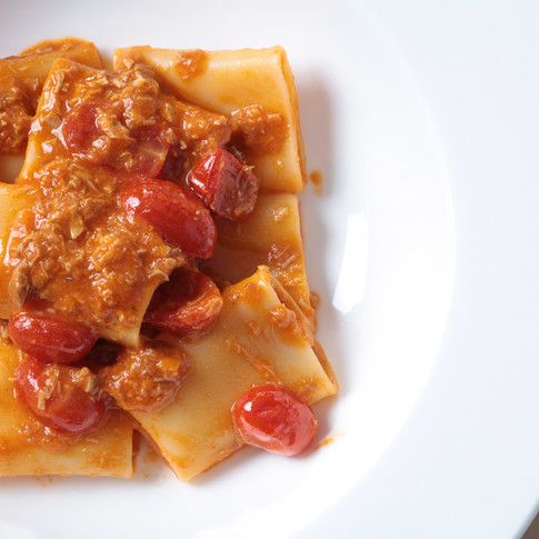 Paccheri with Duck Leg Ragu Scented with Fennel Seeds