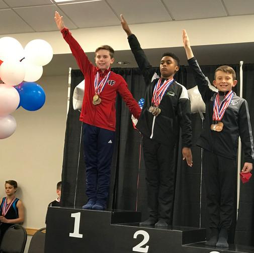 FIF Boys Gymnastics Level 8 1st AA Ryan NC State Championships 2018