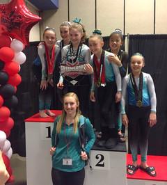 FIF Girls Level 6 & 7 at Greensboro Invitational 2017