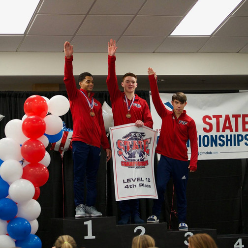 FIF Boys Gymnastics Level 10 4th Place Team NC State Championships 2018