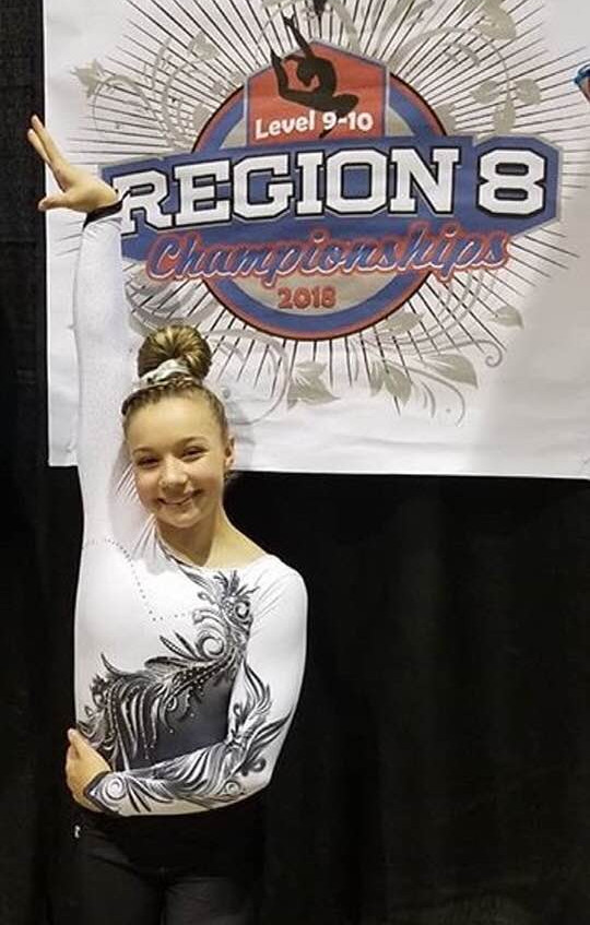 FIF Girls Level 10 Regionals 2018 Piper 3rd AA and 1st Bars
