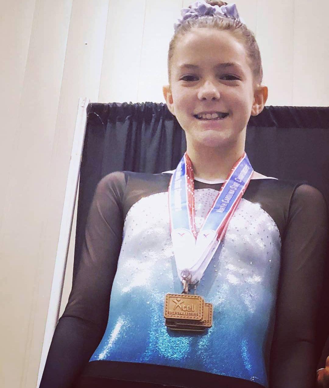 FIF Gymnastics Xcel Silver Chloe 1st Bars NC State Championships 2018