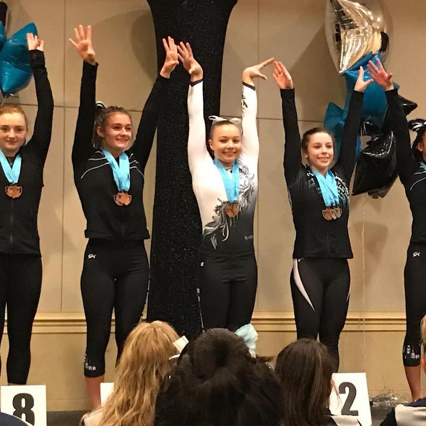 FIF Girls Level 10 Piper Smith 1st Bars Atlantis Crown Invitational 2017