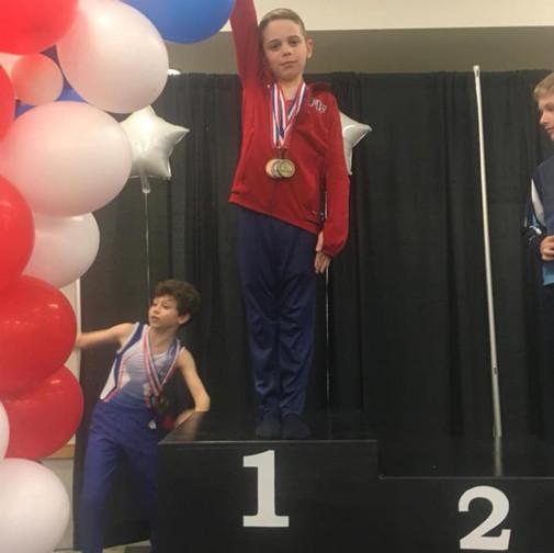 FIF Boys Gymnastics Level 4 3rd AA Jadon NC State Championships 2018