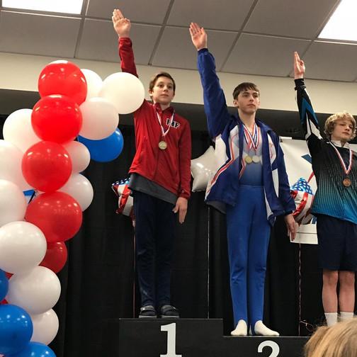 FIF Boys Gymnastics Level 9 Pommel Horse State Chapion Gavin NC State Championships 2018