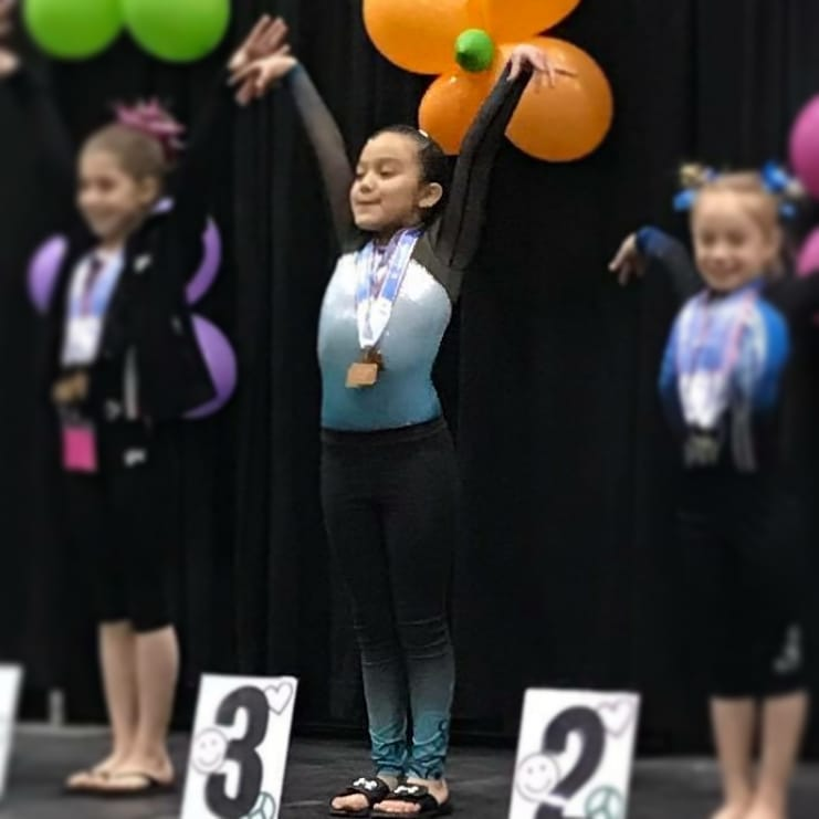 FIF Gymnastics Xcel Bronze Isabella 3rd AA NC State Championships 2018
