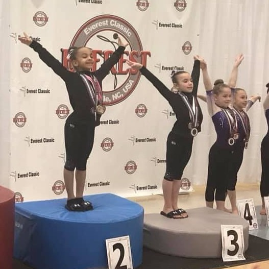 FIF Girls Level 7 Jayda 2nd AA, Addyson