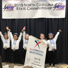 First in Flight Compulsory Girls Bring Home Some Serious Hardware from the NC Compulsory State Champ