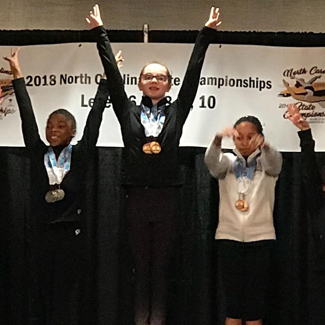 FIF Gymnastics Level 7 Kirsten FLOOR Champ and 2nd AA NC State Championships 2018