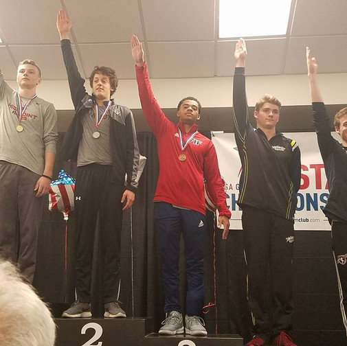 FIF Boys Gymnastics Level 10 Jeremiah 3rd Pommel NC State Championships 2018