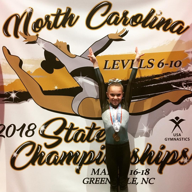 FIF Gymnastics Level 7 Camden 4th AA NC State Championships 2018