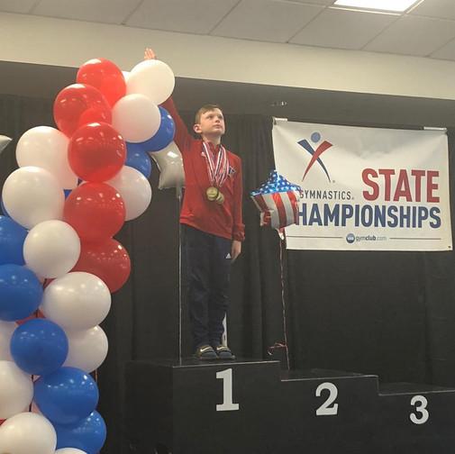 FIF Boys Gymnastics Level 6 1st AA Jacob NC State Championships 2018