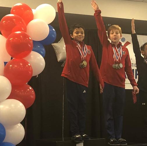 FIF Boys Gymnastics Level 6 1st AA Jaden  and 2nd AA Garrett NC State Championships 2018