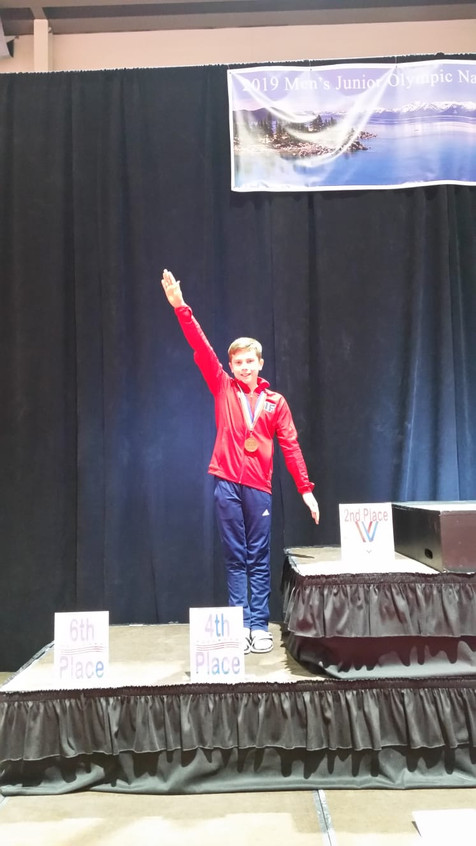 FIF Boys Level 8 Ryan 4th Pommel JO Nati