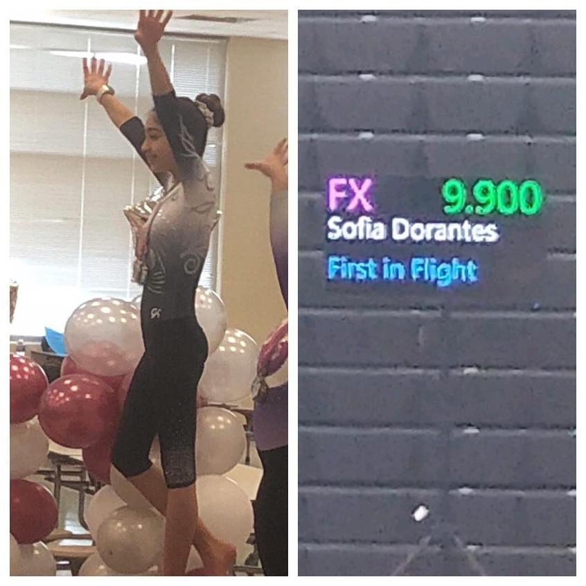 FIF Xcel Gold Sofia 1st AA and Floor Eve